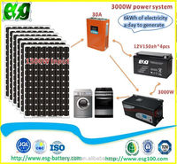 Home Use Complete Set 3KW Solar Power Syetem Generate 8kwh Electricity Off-Grid Solar System