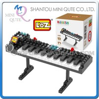 Mini Qute LOZ kawaii musical instrument Organ plastic building blocks bricks cartoon model kids model educational toy NO.9189