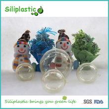 Christmas Decoration Openable Transparent Clear Plastic Ball Container
