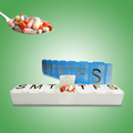 China supplier wholesale weekly portable plastic vitamin pill box
