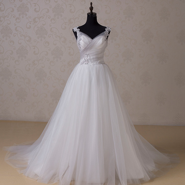 RR1518 2015 Real Sample Vestido Noiva Grey and White Wedding Dresses