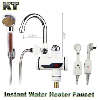 Digital Display Instant Fast Heat Water Heater Tankless Durable Electric Hot Faucet