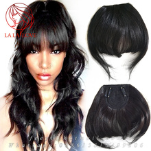 Brazilian Remy Human Hair Clip in hair extension Bangs Human Fringe Natural Hair pieces Blunt Bangs frange a clip cheveux humain