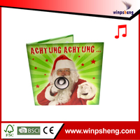 Customized music christmas greeting cards