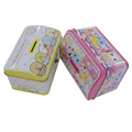 first grade tinplate material empty tin coin box for kids