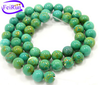 6 8 10 12 mm semi precious beads loose and wholesale turquoise beads