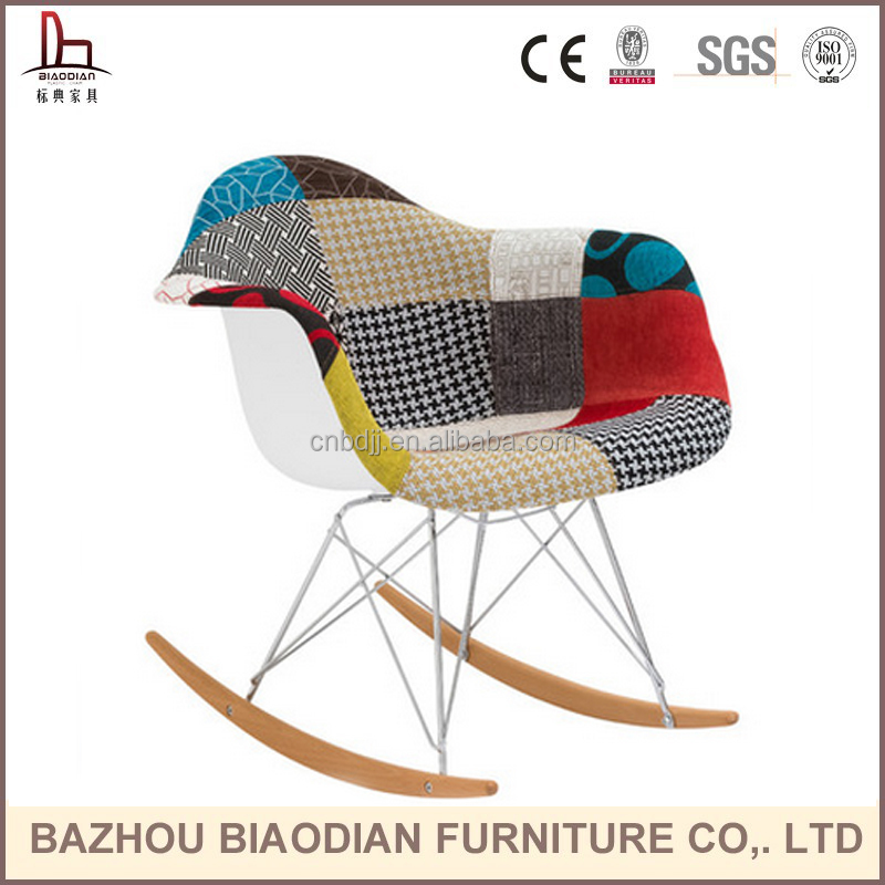 XH-8066YB stylish and supportive chair Pattern Rocker Arm Chair