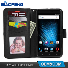 Leather Flip Holsters Wallet Business Card Slot Tpu Pu Protective Smartphone Mobile Case For Blu Vivo Xl2 V0070Uu