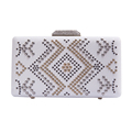 Custom made elegant aluminum beads evening clutch bags