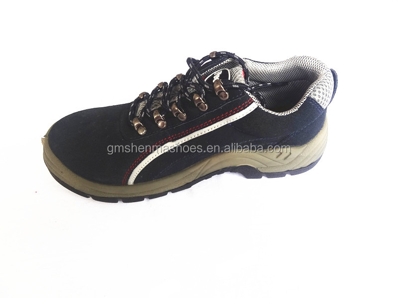 cow suede leather, mesh lining ,steel toe cap,pu outsole S1P SM441 , climbing shoes