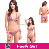 wholesale sexy cheap pink leopard mini fotos de bikinis transparentes