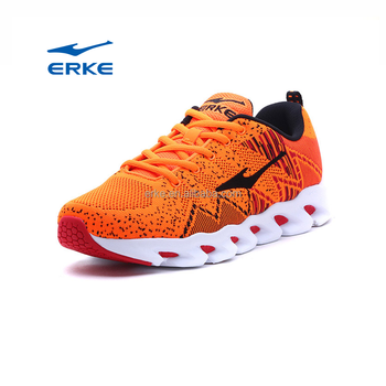 ERKE wholesale brand 2017 fashion knitted upper mens running sports shoes