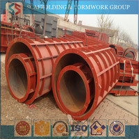 MF-2156 Tianjin Shisheng Manufacturer Flexible Steel Metal Round Curved Concrete Column Wall Forms for Sale