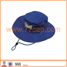 customized polyester printed blue bucket hats