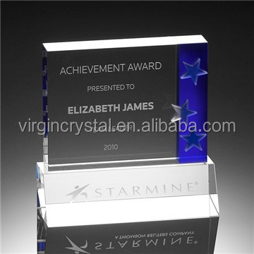 Wholesale Cheap Blank Square Glass Crystal Awards Plaque as corporate soyvenir gift
