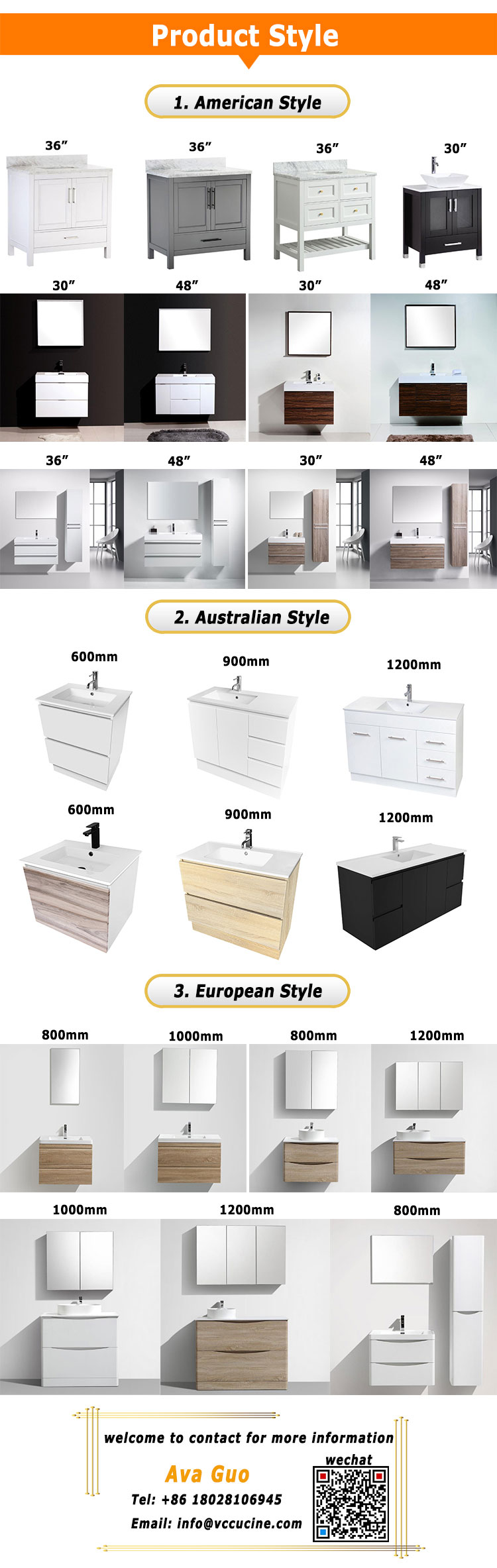 Customized antique modern bathroom vanities furniture