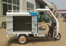 Three wheel electric cargo truck with van for sale