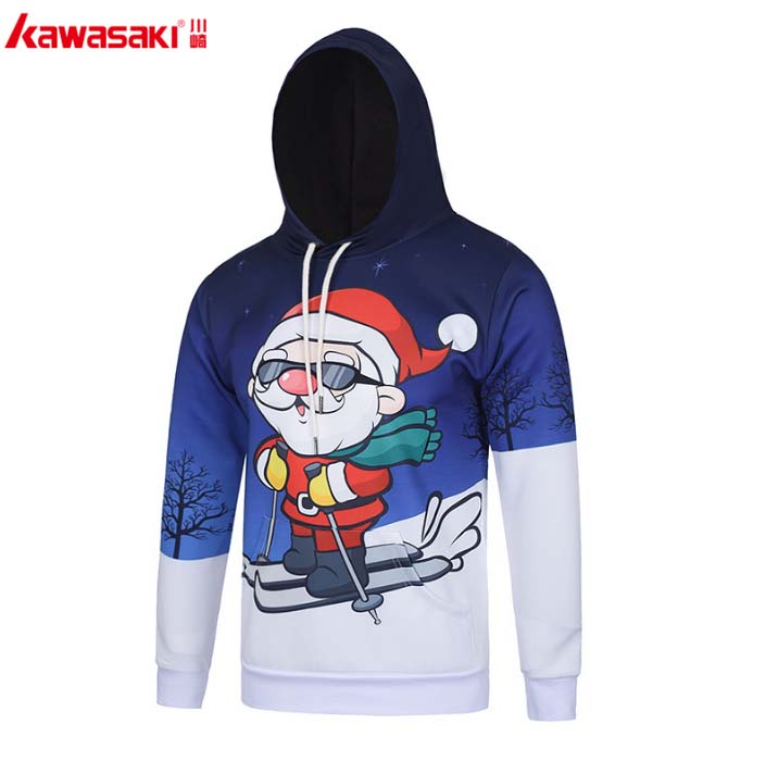 Christmas 100% polyester sublimation printing baby carrier hoodies kangaroo coat hoodies