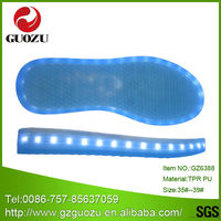 blue shining led flash light shoe soles to buy
