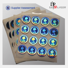 Custom Die Cut Circle Adhesive Holographic Label Stickers