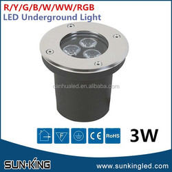 Discount high power 3W ground led round buried light, 3Watts led underground driveway lights