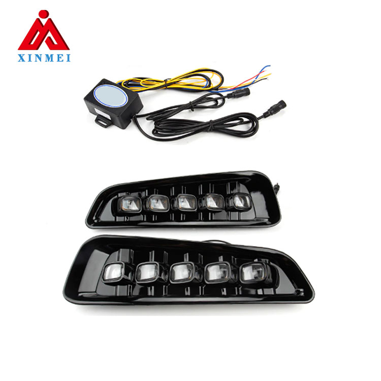 LED Fog Lights fit for 2017-2018 F-150 Raptor DRL Switchback 5 LED Dual <strong>Color</strong>