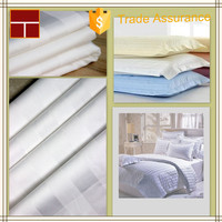 Plain White 100% Cotton Sateen Fabric For Bedding Shijiazhuang Supplier