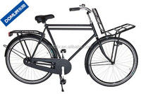 traditional style load bicycle 28 inch single speed city bicycle with front carrier