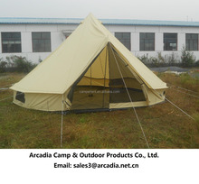 Outdoor 4M cotton canvas bell tent camping bell tent