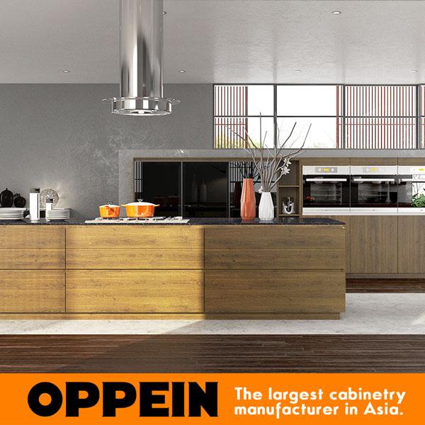 Oppein nuevo diseño para el vidrio frontal del gabinete de cocina ...