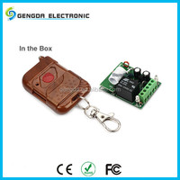 Universal plastic automatic remote controller for garage doors with access control