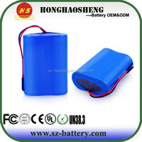 Portable DVD player 7.4v battery li ion battery 18650 7.4v 2000mah