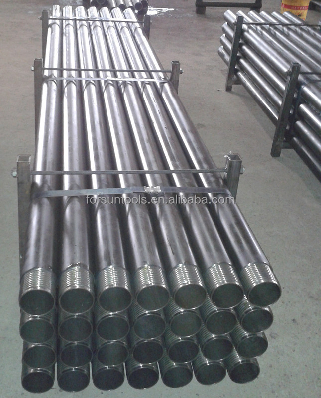 Drilling casing and coring pipes for geological exploration drilling