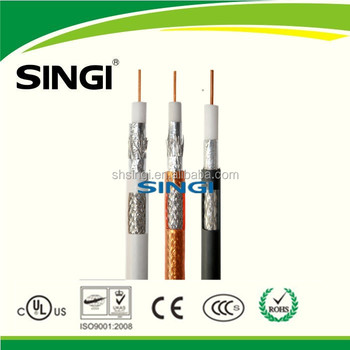 rg6 coaxial cable camera cable rg6 cable with 1.02mm 75ohm Factory best price coaxial type communication cable for cctv