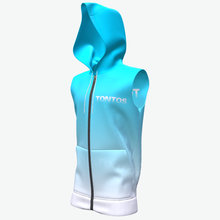 Atacado completa sublimated gradient cor mangas Do Hoodie