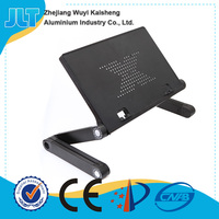 Adjustable height and angle wall mounted folding table for laptop