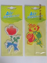 2015 hanging paper air freshener for car or home with flower shape