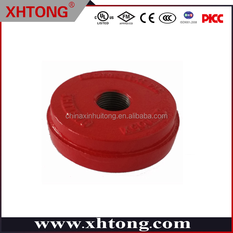 CHINA MADE DUCTILE IRON COUPLING 5 INCH END CAP GROOVED/THREADED