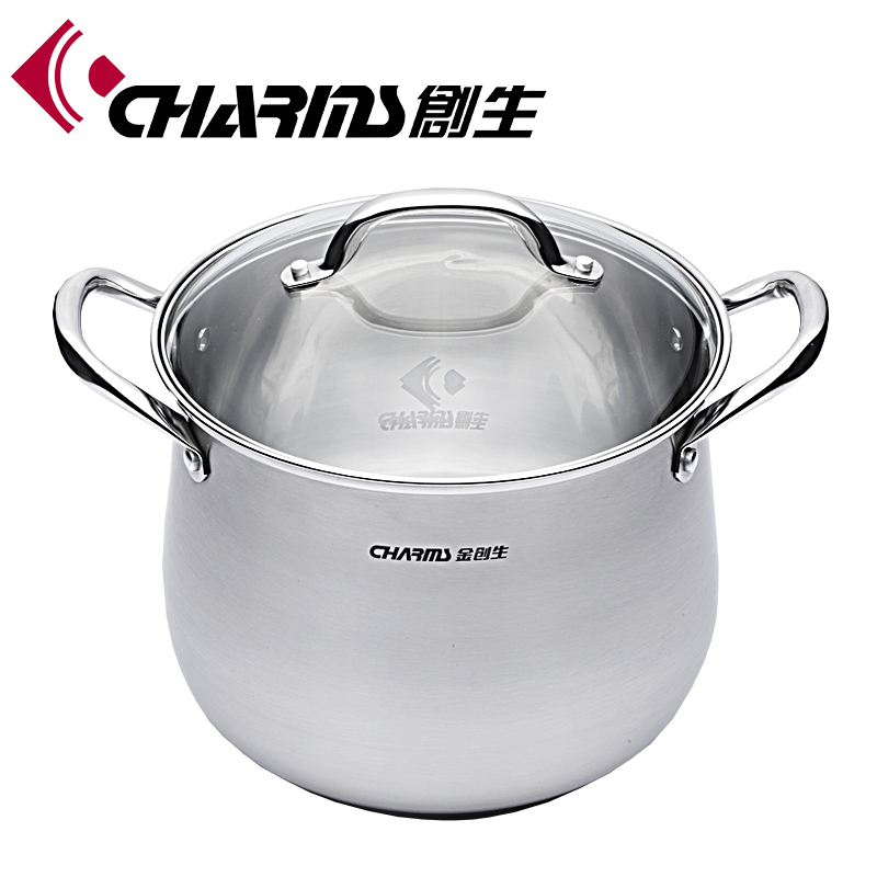 Super capsuled bottom stainless steel energy saving cooking pot