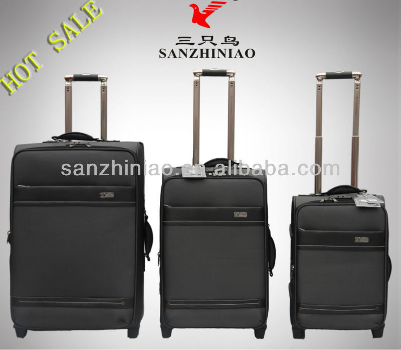 Hot Sale New Style Fashional Luggage Oxford EVA 1680D Fabric Cases Travel Trolley Bag 2 Wheel Suitcase Three Birds