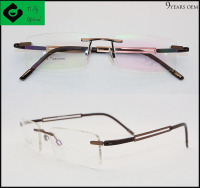 Fashion design custom allergy free titanium spectacle frames