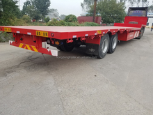 low bed semi trailer with tri-axles good price 60 tons
