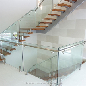 Safety polish stainless steel glass balcony railing for Hurricane region