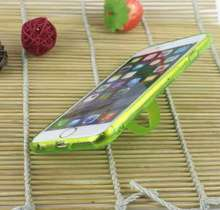 Weaving ring bracket silicone mobile phone case for iphone 6 plus TPU mobile phone cover