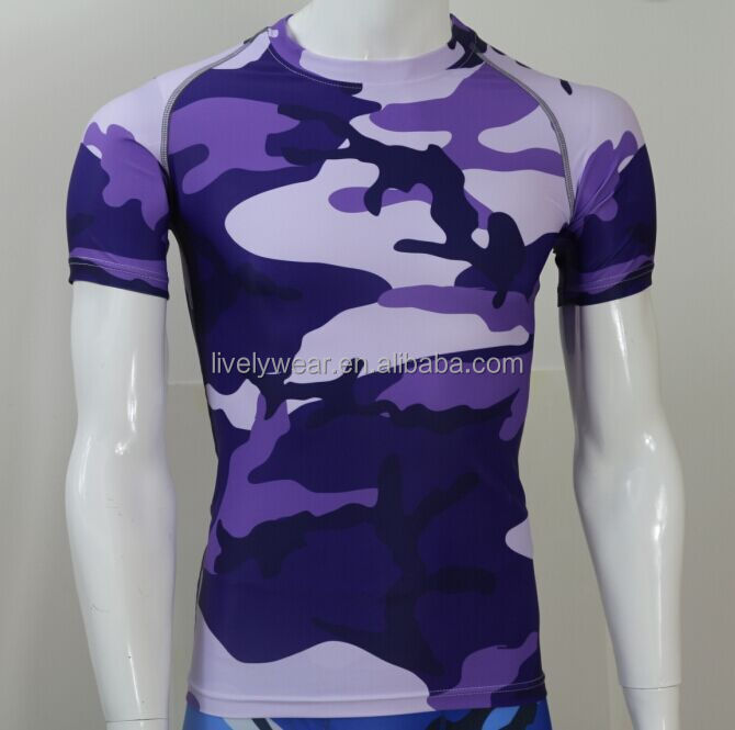 Lively-- camouflage compression Jersey fitness wear for men
