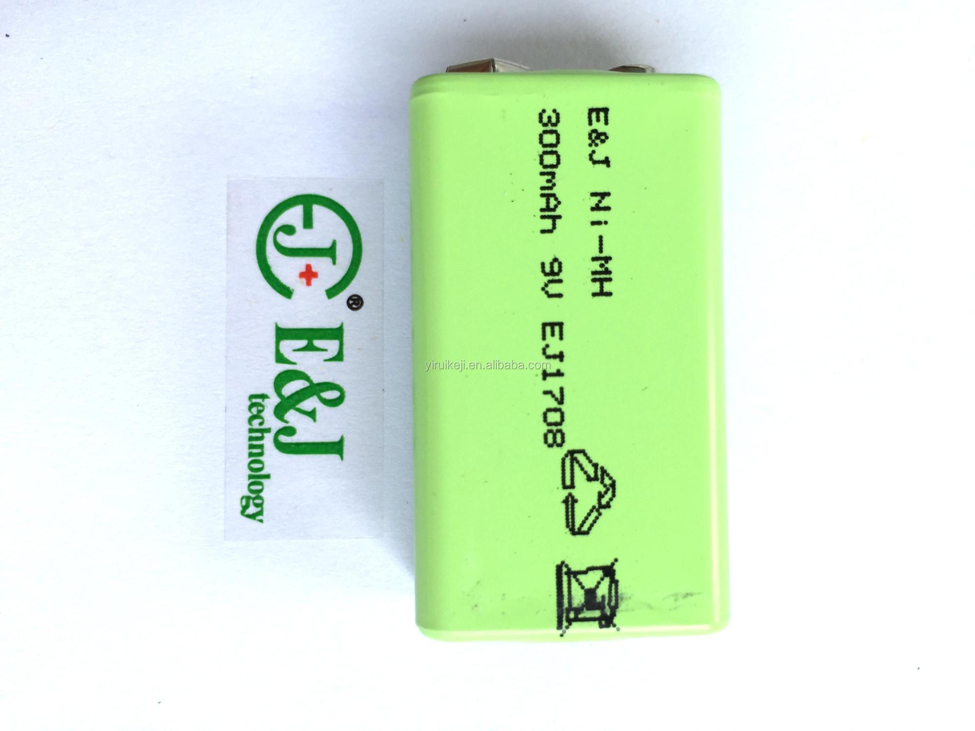 NiMH 9V/8.4V 280mAh Longest Lasting NI-MH Rechargeable 6F22 6LR61 Batteries