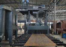 used steel plate shot blasting machine and painting drying equipment
