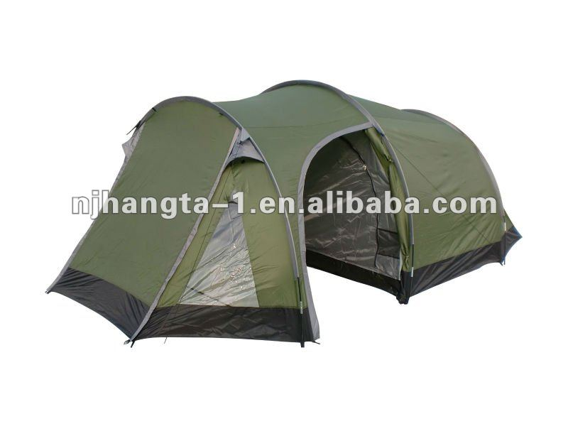 Double Layer 4 person Trekking Waterproof Camping tunnel tent for sale