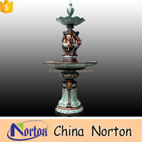 children sculpture decorative indoor bronze garden fountain for sale NTBF-C074S