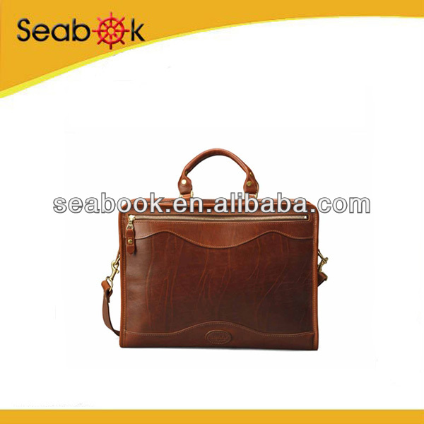 Executive Genuine Leather Hard Briefcase for Men